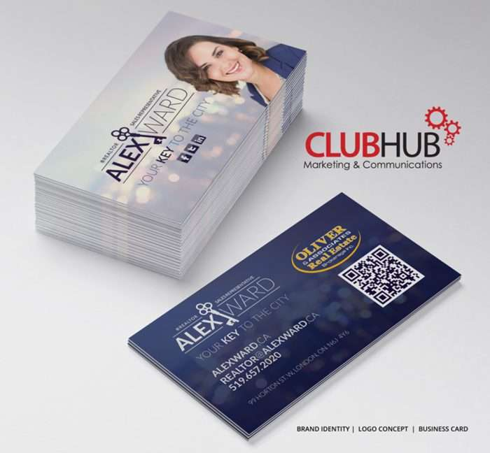 Club Hub Marketing & Communications - Business Card - Alex Ward