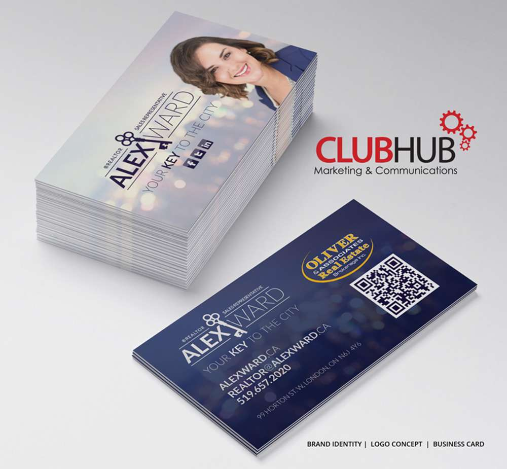 Club Hub Business Card Alex Ward