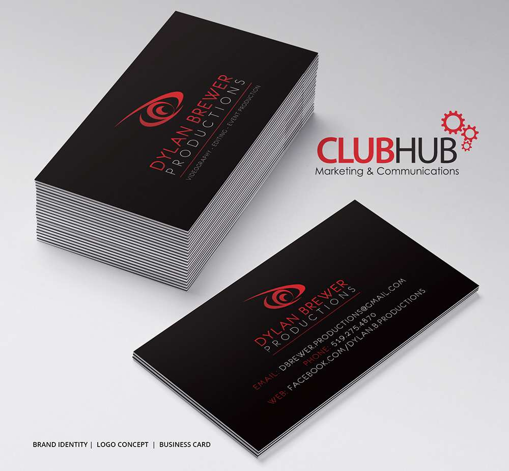 Business cards archives page 2 of 2 club hub marketing dylan brewer reheart Images