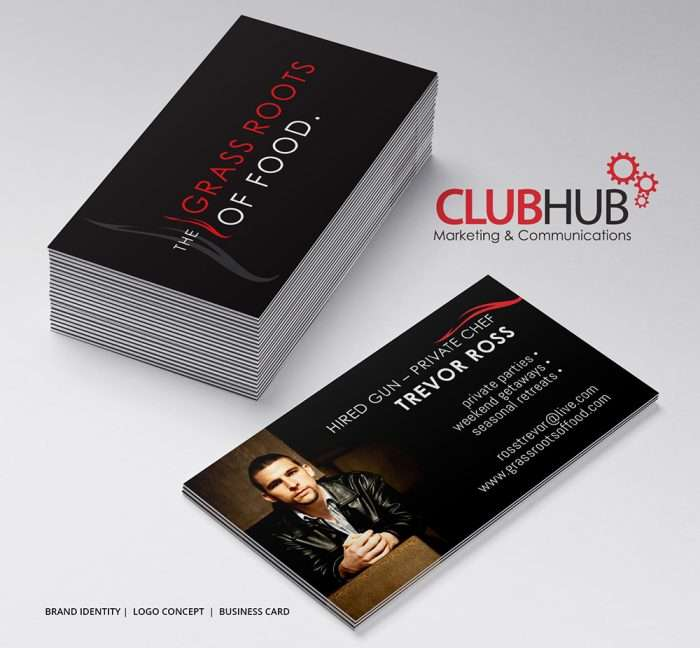Club Hub Marketing & Communications - Business Card - Grass Roots Of Food
