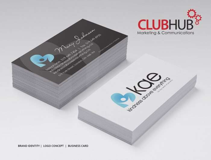 Club Hub Marketing & Communications - Business Card - Kindness Above Everything