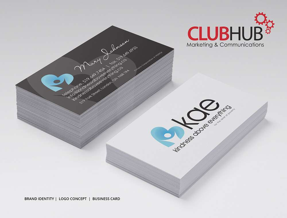 Club hub marketing communications business card kindness above club hub marketing communications business card kindness above everything reheart Images