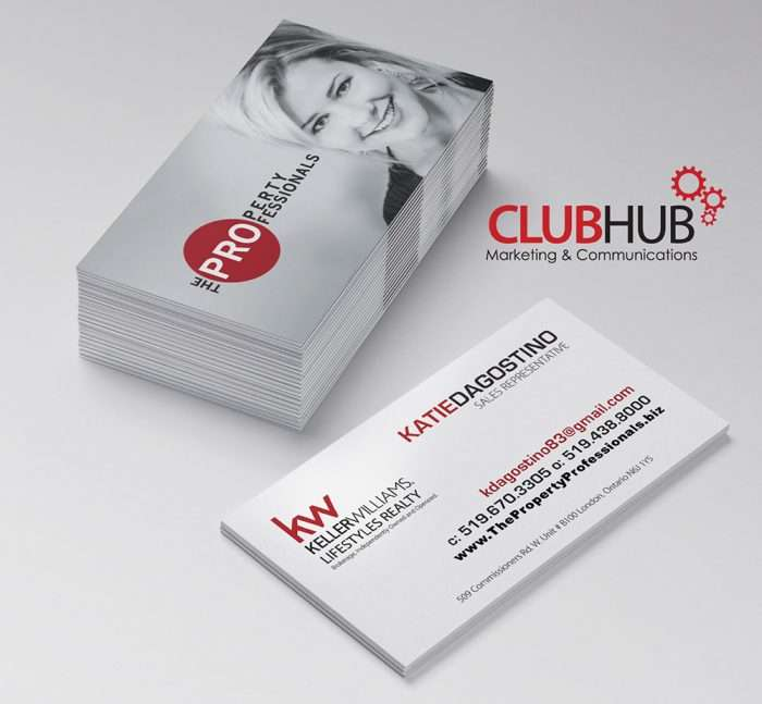 Club Hub Marketing & Communications - Business Card - Katie Dagostino