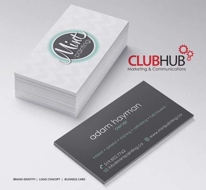 Club Hub Marketing & Communications - Business Card - Mint Painting