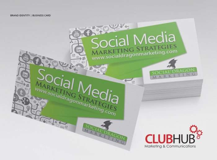 Club Hub Marketing & Communications - Business Card - Social Dragon Marketing