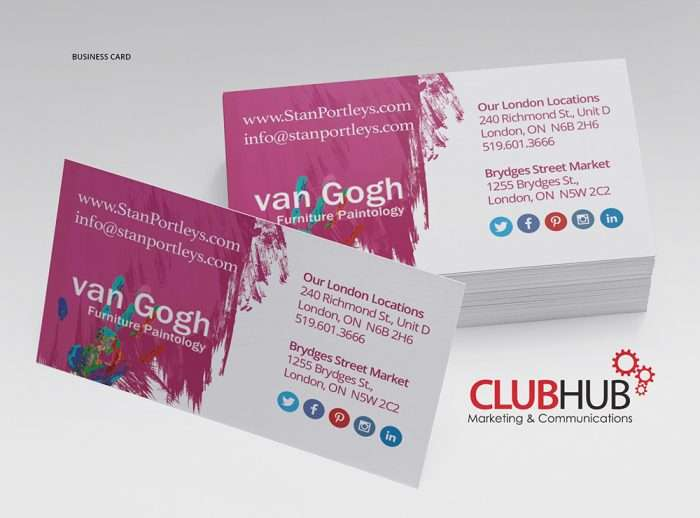 Club Hub Marketing & Communications - Business Card - Stan Portley