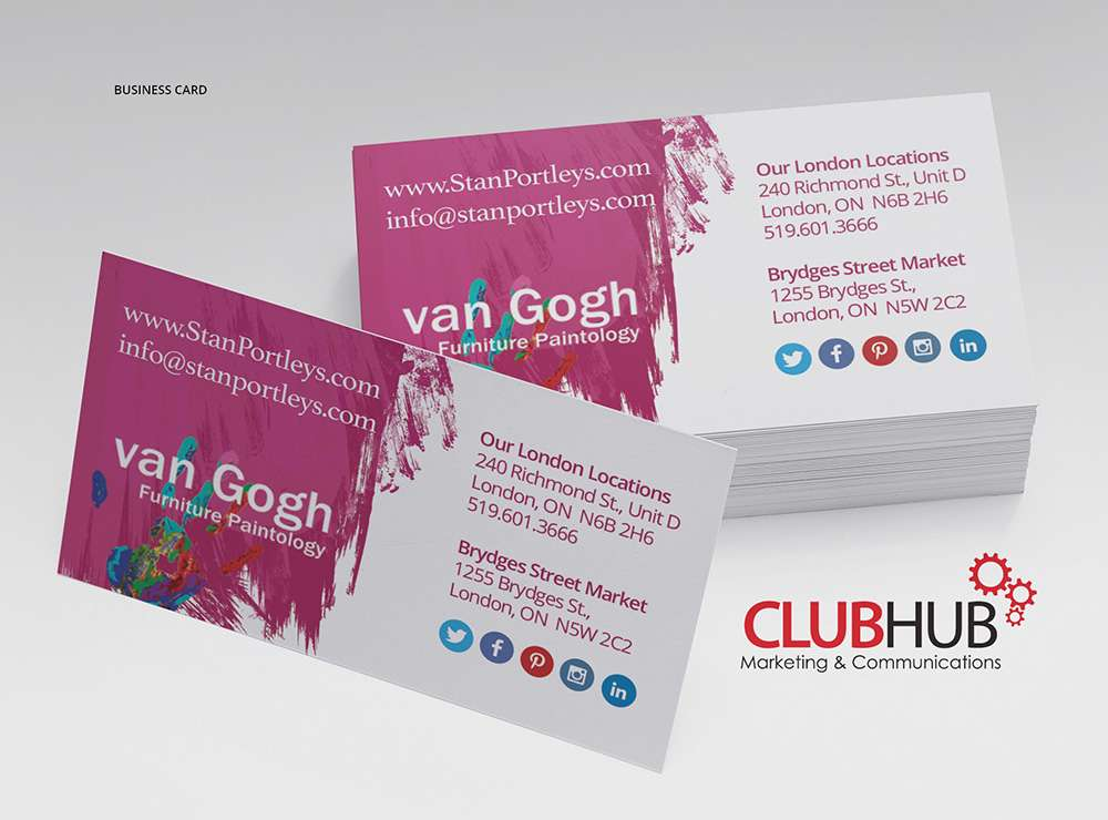 Business cards archives club hub marketing communications stan portleys reheart Images