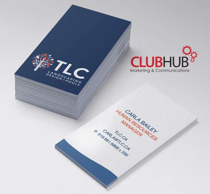 Club Hub Marketing & Communications - Business Card - TLC Landscaping