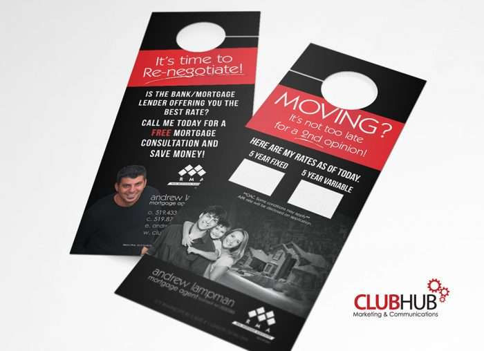 Club Hub Marketing & Communications - Door Hanger - Andrew Lampman