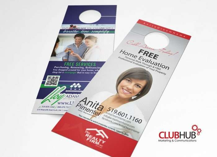 Club Hub Marketing & Communications - Door Hanger - Anita Pimentel