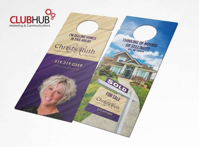 Club Hub Marketing & Communications - Door Hanger - Christy Ruth