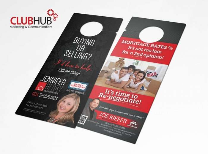 Club Hub Marketing & Communications - Door Hanger - Jennifer Henry