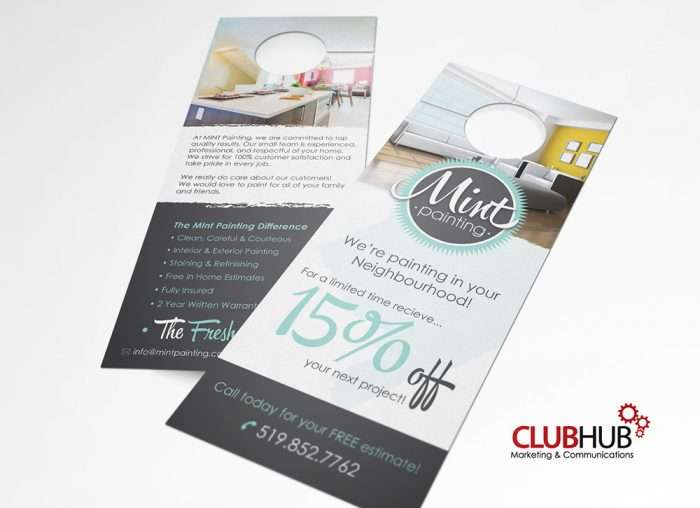 Club Hub Marketing & Communications - Door Hanger - Mint Painting