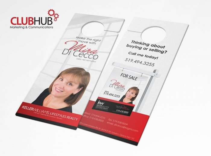 Club Hub Marketing & Communications - Door Hanger - Miro DiCecco