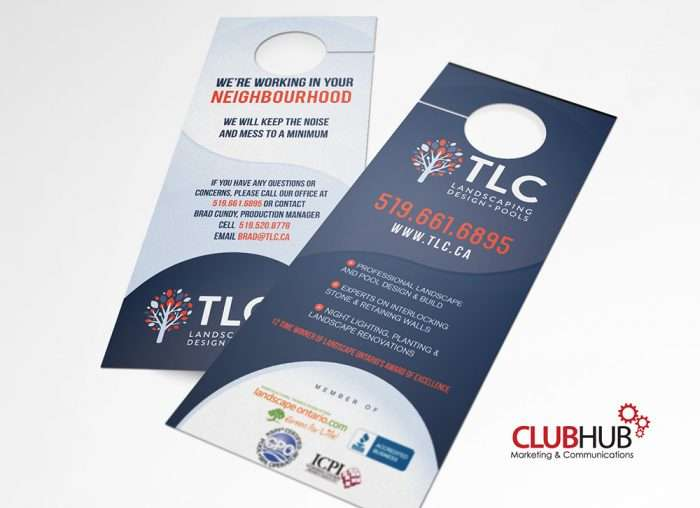 Club Hub Marketing & Communications - Door Hanger - TLC Landscaping