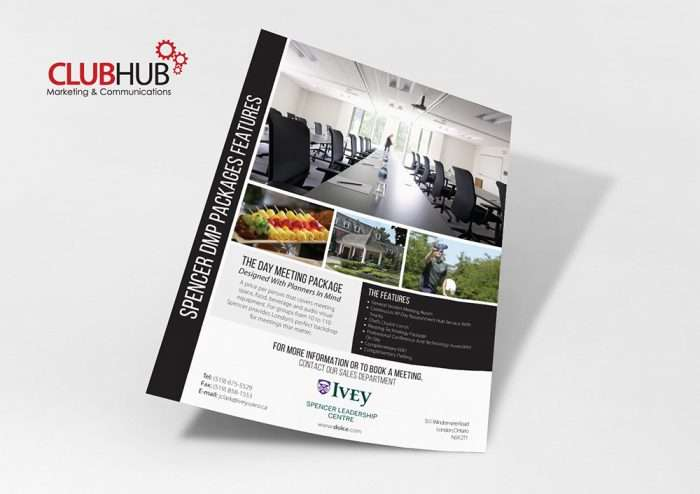 Club Hub Marketing & Communications - Flyer - Ivey Spencer