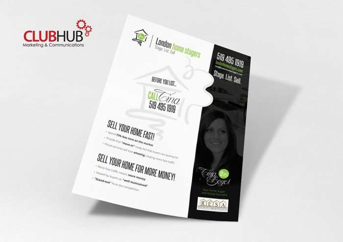 Club Hub Marketing & Communications - Flyer - London Home Stagers