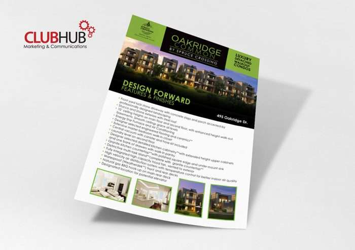 Club Hub Marketing & Communications - Flyer - Oakridge Common