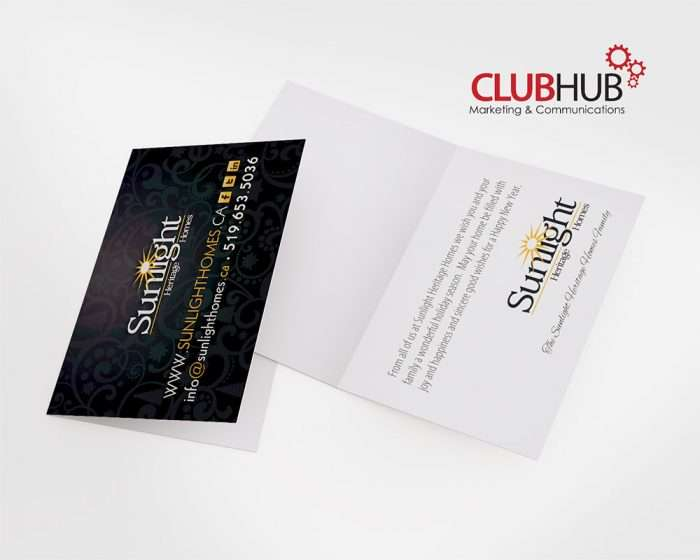 Club Hub Marketing & Communications - Greeting Card - Sunlight Heritgage Homes