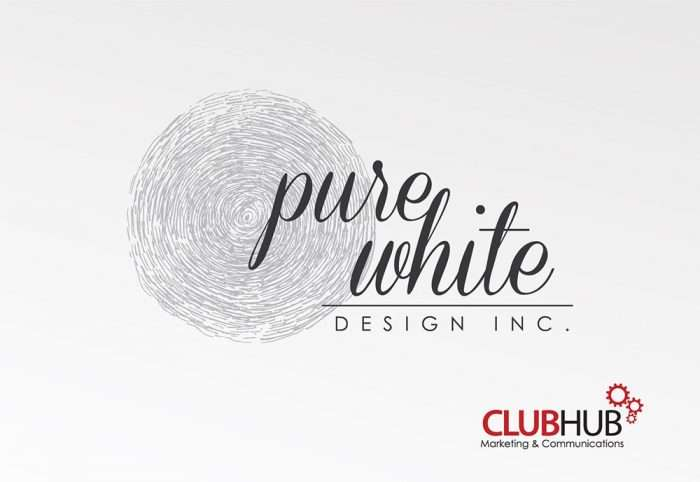 Club Hub Marketing & Communications - Logo Creation - Pure White Design