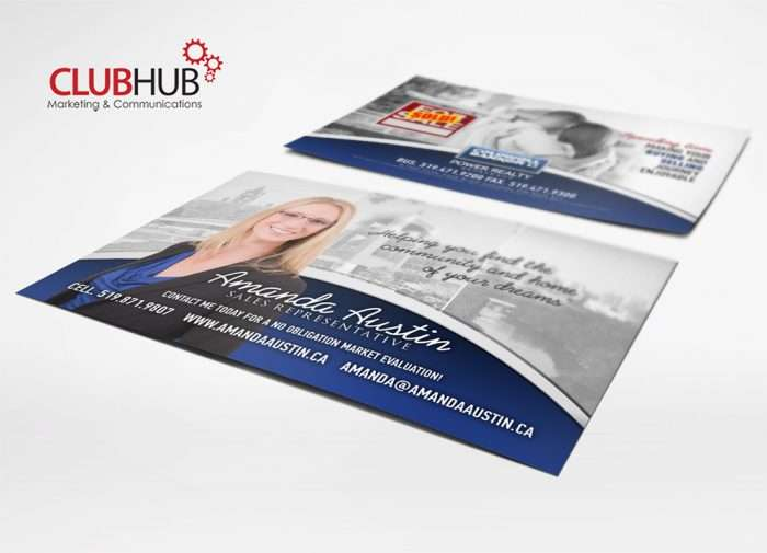 Club Hub Marketing & Communications - Postcard - Amanda Austin
