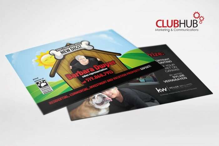 Club Hub Marketing & Communications - Postcard - Barb Dwyer