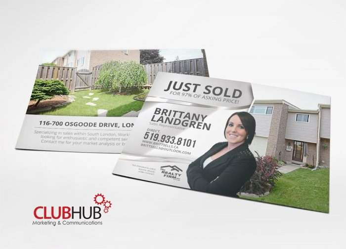 Club Hub Marketing & Communications - Postcard - Brittany Landgren