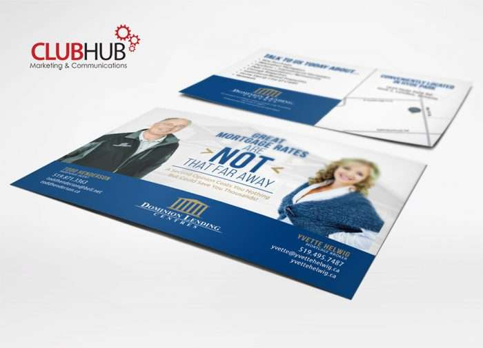 Club Hub Marketing & Communications - Postcard - Dominion Lending