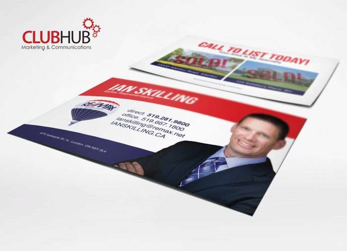 Club Hub Marketing & Communications - Postcard - Ian Skilling