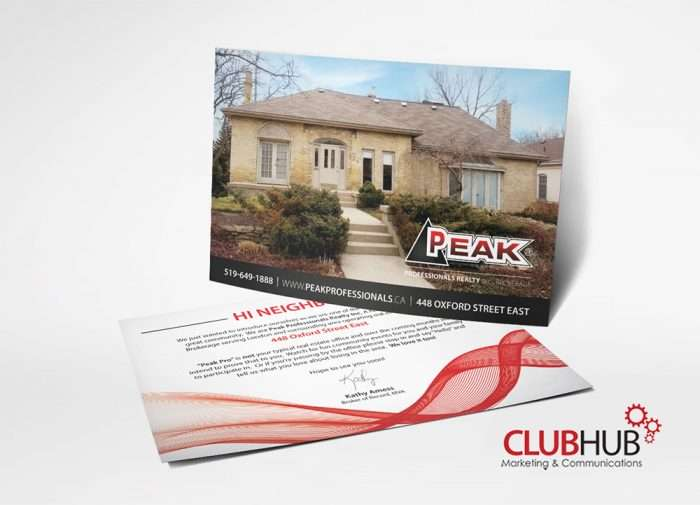 Club Hub Marketing & Communications - Postcard - Peak Professionals