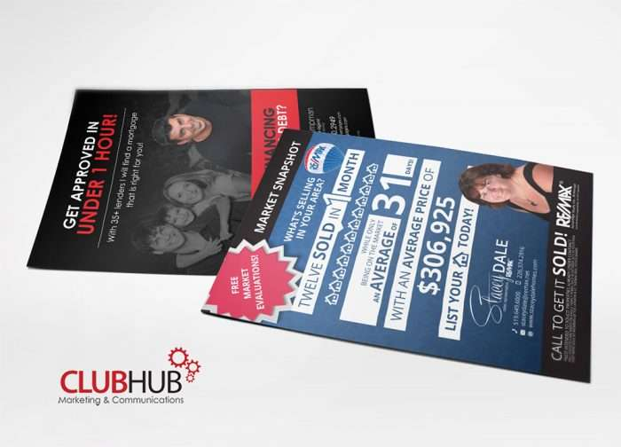 Club Hub Marketing & Communications - Postcard - Stacey & Andrew