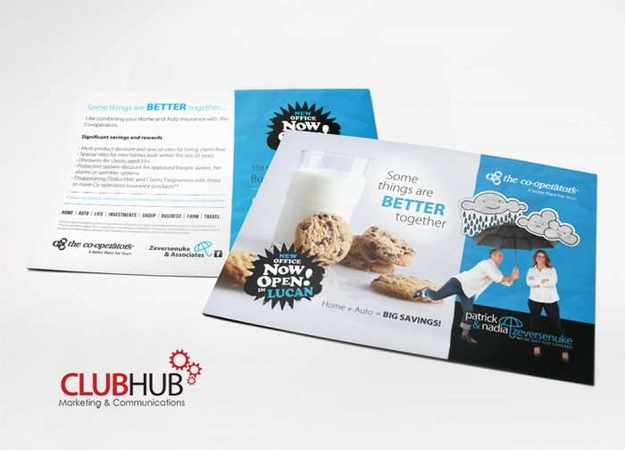 Club Hub Marketing & Communications - Postcard - The Cooperators