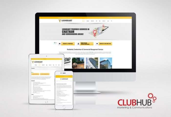 Club Hub Marketing & Communications - Web Development - Lionheart Property Management