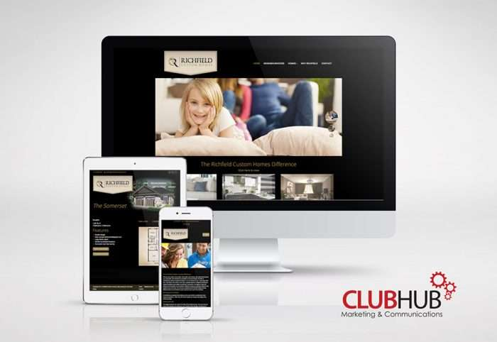 Club Hub Marketing & Communications - Web Development - Richfield Custom Homes