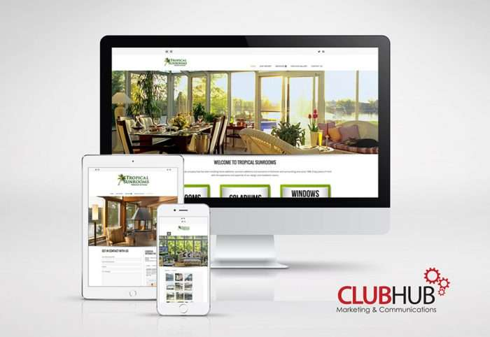 Club Hub Marketing & Communications - Web Development - Tropical Sunrooms