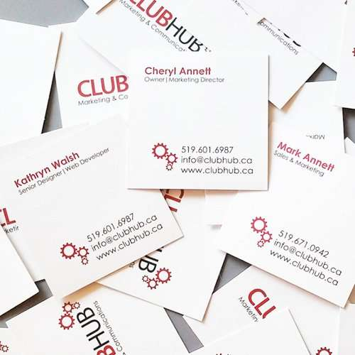 Club Hub Marketing & Communications - Portfolio Image - Business Cards